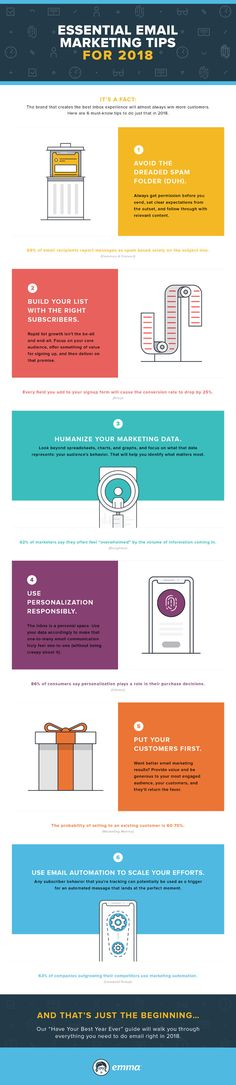 #Email #Infographic - 6 Essential Email Marketing Tips for 2018