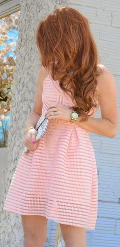 Pink Fit And Flare Inspiration Dress