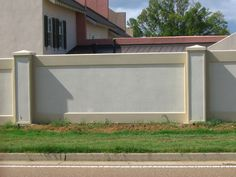 stucco fences image search results - Wall Fencing Designs