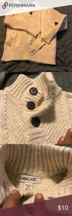 BNWT long sleeve cable knit sweater 4/5 toddler Tag attached Cherokee Shirts & Tops Sweaters