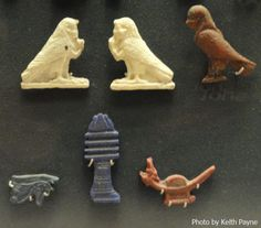 Magical amulets from the Louvre (Photo by Keith Payne)