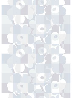 Ruutu-Unikko HW cotton sateen fabric by Marimekko