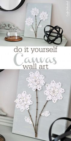 DIY Leinwand Wandkunst: Shabby Chic Flowers - Kunsthandwerk entfesselt - Lifestyles of the Broke and Hopeful DIY Canvas Wall Art: Shabby Chic Flowers - Crafts Unleashed DIY Leinwand Wandkunst: Shabby Arte Shabby Chic, Flores Shabby Chic, Shabby Chic Kranz, Cocina Shabby Chic, Casas Shabby Chic, Shabby Chic Flowers, Shabby Chic Kitchen, Shabby Chic Decor, Kitchen Country