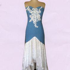 31 best Casual But Elegant Blue Jean Wedding Dresses images on ...