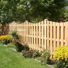 Wood fencing can be
