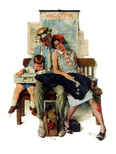 """Home from Vacation"", September 13,1930 Giclee Print by Norman Rockwell at Art.com"