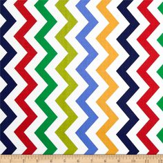 Michael Miller Shi Shi Chevron Primary from @fabricdotcom  Designed for Michael Miller Fabrics, this fabric is perfect for quilting, apparel and home décor accents.  Colors include green, yellow, red, brown, lime and white.