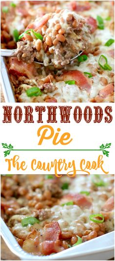 Northwoods Pie recipe from The Country Cook! A great low-carb dish that is full of ground beef, beans, bacon and cheese! So good!! #bushsbeans #ad