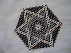 Hand Stitched Beaded Star Design
