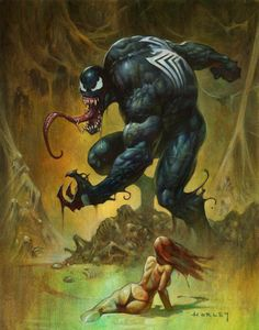 #Venom #Fan #Art. (Venom's Lair) By: Alex Horley. (THE * 5 * STÅR * ÅWARD * OF * MAJOR ÅWESOMENESS!!!™)