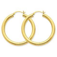 4 mm Round Hoop Earrings https://www.goldinart.com/shop/14k-earrings/4-mm-round-hoop-earrings #14KaratGold, #HoopEarrings