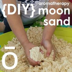 Moon Sand is a ton of fun and can be enjoyed by kids of all ages. It is crumbly like sand but can easily be molded into any shape. Made with only three simple ingredients, Moon Sand is easy to make and can last for weeks when stored in a container with a lid. Click here for tutorial: http://doterrablog.com/diy-aromatherapy-moon-sand/