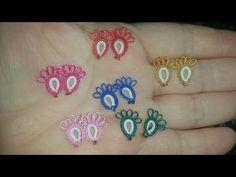 Tatting Earrings, Lace Earrings, Tatting Tutorial, Needle Tatting, Make It Yourself, Embroidery, Youtube, Jewelry, Line Art