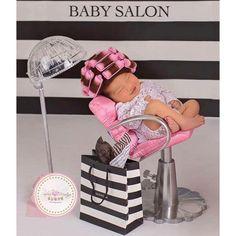 Newborn baby salon photo shoot