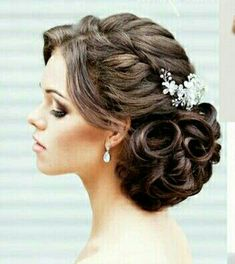 Best wedding hairstyles updo for short hair for women 35 ideas Hair Up Styles, Long Hair Wedding Styles, Hair Styles 2016, Medium Hair Styles, Wedding Hairstyles For Long Hair, Elegant Hairstyles, Wedding Hair And Makeup, Bride Hairstyles, Hairstyle Ideas