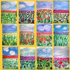 Kunst in der Grundschule:,Blumenwiese                                                                                                                                                                                 More