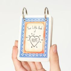"""This DIY """"Little Book Of Hope"""" would make a perfect and thoughtful gift for anyone  going through a difficult time or fighting cancer!"""