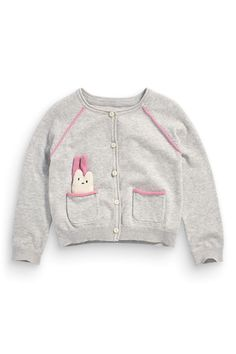 Buy Grey Patch Cardigan (3mths-6yrs) from the Next UK online shop