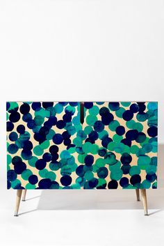 Buy Credenza with Gracie Spot Blue designed by Amy Sia. One of many amazing home décor accessories items available at Deny Designs. Funky Painted Furniture, Bohemian Furniture, Recycled Furniture, Plywood Furniture, Home Office Decor, Unique Home Decor, Diy Home Decor, Furniture Makeover, Furniture Decor