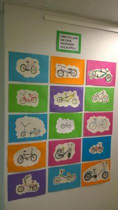 """""""Polkupyörä"""" (2.lk) Tarkan piirtämisen harjoitus. Alkuperäinen idea…"""