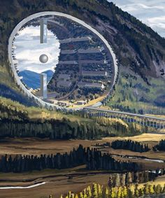 winning architectural fairy tales include sci-fi landscapes and sentient structures - the winners of the 2017 architectural fairy tales contest have been announced, including stories th - Concept Art Landscape, Fantasy Art Landscapes, Fantasy Landscape, Landscape Art, Landscape Designs, Concept Art Sci Fi, Landscape Borders, Fantasy City, Fantasy Places