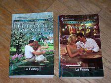 Lot 2 Liz Fielding Harlequin romance A WIFE ON PAPER & FIVE-YEAR BABY SECRET pbk