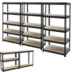 New 5 Tier Metal Shelving Shelf Storage Unit Garage Boltless Shelves Industrial