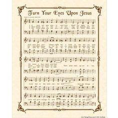 TURN Your EYES Upon JESUS Hymn Art Custom by VintageVerses