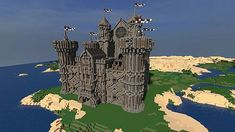 Medieval Castle Minecraft Project Cool Minecraft Creations, Minecraft Castle, Minecraft Medieval, How To Play Minecraft, Minecraft Designs, Minecraft Projects, Minecraft Stuff, Minecraft Ideas, Medieval Castle