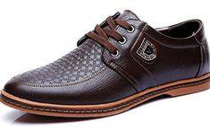 0ca16d74238 Comprar Ofertas de Anlarach Hombres Primavera Casual Cuero Real De Goma En  Relieve Más Zapatos De Tamaño Marrón 47 EU barato. ¡Mira las ofertas!