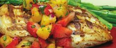 grilled chicken w/ strawberry and pineapple salsa recipe