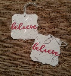 Christmas Gift Tags Set of 2 by PaperPolkaDot on Etsy, $3.00