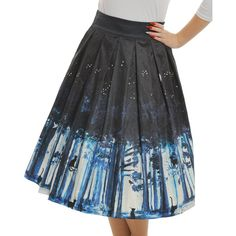 Print Swing Skirt Lindy Bop Marnie Midnight Cat $49