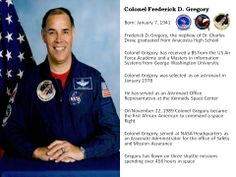 Colonel Frederick D. Gregory - June 2014  http://www.crossculturalcalendars.com/Calendars.html