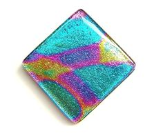 Cool Lava dichroic fused glass swimming pool or fountain accent tile Waterline mural art glass tiles for indoor or outdoor use Stunning one of a kind tile inlay to accent Aqua Glass, Fused Glass, Bathroom Wall Art, White Bathroom, Glass Pool, Bathroom Pictures, Glass Art, Glass Tiles, Picture Wall