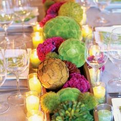 Very different take on #wedding #flowers. #LoveDI #wedding #flowers #green #theme #ideas