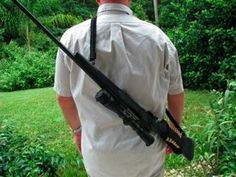 Rifle Sling to carry your weapon.  It will allow you to carry 80' of paracord with you while you are on the hunt.