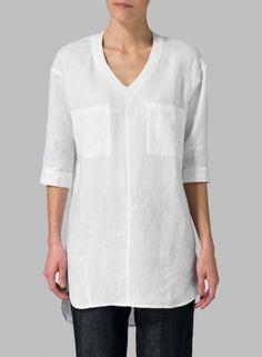 MISSY Clothing - Linen Drop-shoulder Tunics