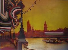 London | From a unique collection of landscape paintings at https://www.1stdibs.com/art/paintings/landscape-paintings/