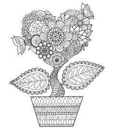 Printable Adult Coloring Pages Books Zentangle Doodles Hearts Colouring Print Book Chance