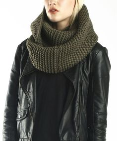 Look what I found on #zulily! Olive Knit Infinity Scarf by TROO #zulilyfinds