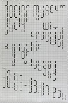 Graphic Design by Philippe Apeloig (b.1962), 2011, Exhibition Poster for Wim Crouwel (b. 1928, Dutch graphic designer), A graphic Odyssey, Musée du Design, Londres.