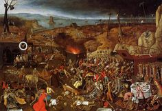 The Triumph of Death, Oil On Panel by Pieter Bruegel The Younger (1564-1636, Belgium)