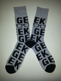 Geek themed Crew Socks! Sold by Socks & Souls where we are warming souls through soles by giving a pair of socks to someone in need with every sock purchase! Visit socksandsouls.com today and warm souls, and soles, the simple way!