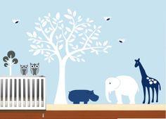 Baby Boys Wall Decal Nursery Sticker Safari with by NurseryWallArt, $99.99