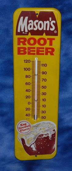 VINTAGE MASON'S ROOT BEER THERMOMETER  #Masons