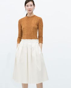 ZARA - WOMAN - FRAYED MIDI SKIRT
