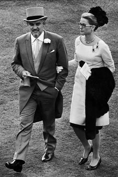 Grace and Rainier in the paddock for Royal Ascot 1966