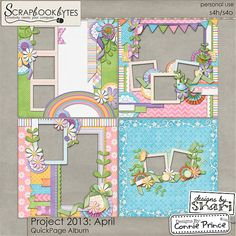 Project 2013: April - QuickPages :: 12x12 Quick Pages :: Hybrid, Quickpages & Printables :: SCRAPBOOK-BYTES