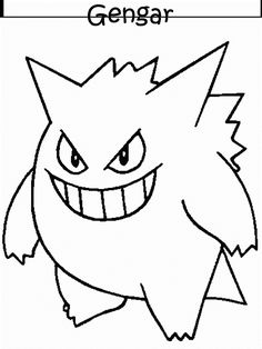 Print Pokemon # 79 Coloring Pages coloring page & book. Your own Pokemon # 79 Coloring Pages printable coloring page. With over 4000 coloring pages including Pokemon # 79 Coloring Pages . Pokemon Charizard, Haunter Pokemon, Ghost Pokemon, Pokemon Sketch, Online Coloring Pages, Cool Coloring Pages, Coloring Books, Pokemon Coloring Sheets